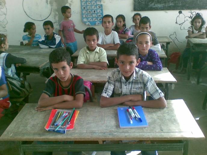 élève de l'école de Mezguitane