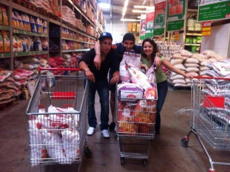 Mehdi, Hamza, Salma bénévoles